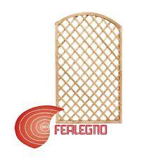 PANNELLO GRIGLIATO RETTANGOLARE AD ARCO LEGNO 90X180CM GIARDINO ESTERNO ART55971