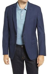 BNWT Hugo Boss Hartlay Trim Fit Check Wool Sport Coat Size 40R MSRP $595!!