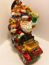 Christopher Radko Ornament Reindeer Roadster ,1015177. Great Details