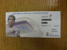 circa 2000's Ticket: Real Madrid - Bernabue Tour. Thanks for viewing this item,
