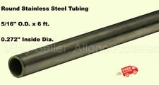 Round Tubing 304 Stainless Steel 516 Od X 6 Ft Seamless 0272 Inside Dia
