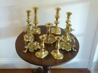 Selection Of Vintage Brass Candlesticks To Choose From