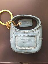 Rare! COACH Teal Aqua Mini Ergo Handbag Key Fob Key Chain Bag Charm 92083