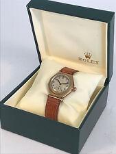 ROLEX 2132 Observatory 9K 375 Gold Octagonal 1920s Watch - Rare