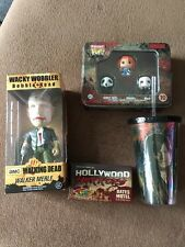 Walking Dead Merle Bobble Head / Travel Cup Pocket Pop! Vinyl Chucky/Bates Motel