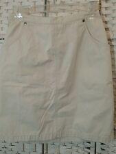 Eddie Bauer Women A-Line Skirt Beige Above Knee Length Cotton Size 6       B24