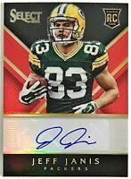 2014 Select Jeff Janis Auto RC #'d 6/50 Red Prizm Packers Bubble Mailer Ship