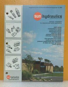 Sun Hydraulics Pressure & Flow Control Valves Catalog.