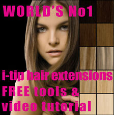 Micro Bead EUROPEAN HUMAN HAIR EXTENSIONS! ALL COLOURS! Top Quality REMY Hair!