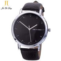Men's Quartz Watch Leather Strap Waterproof Watch Reverse Watch Backwards Watch