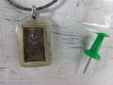 Altes PHRA SOMDEJ Buddha Amulett SILBER mit Halskette Thailand original 1950