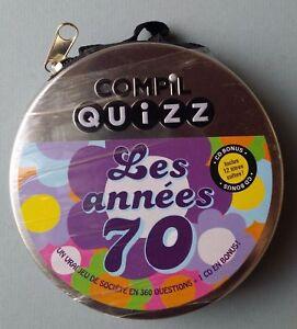 COMPIL QUIZZ - LES ANNÉES 70 - LE JEU EN 360 QUESTIONS + 1 CD !  - NEUF NEW NEU