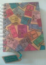 Paperchase Wire Binding Travel Journal scrapbook, lined pages, pockets