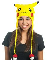 Pokemon Pikachu Beanie Hat Big Face Laplander