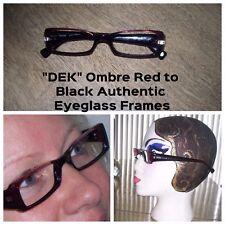 "Cool "" dek "" Optica Ombre Red to Black Helen Model Eyeglass Frames WOW!"
