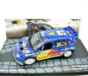 Model Car Rally Skoda Fabia WRC Rallye IXO Scale 1:43 diecast vehicles