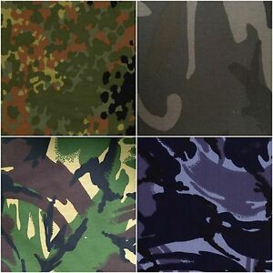 New Camo Camouflage Fabric Army Military Twill Camouflage