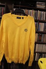 Jack Nicklaus Yellow V Neck Sweater The Memorial Tournament Muirfield L  (b157)