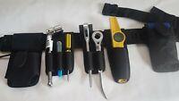 Scaffold Black Work Tools Belt Double Spanner Frog,Level Tape Holder 30''-48''