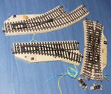 3 Märklin elektr. Weichen: 5207 Kreuzungsweiche, 5202 Weiche, 5141 Bogenweiche
