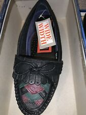 Black  MultiColor Leather Shoes Size: 6W US Women's Walkables Comfort Loafer NEW