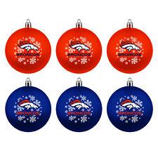 Nfl Denver Broncos Tree Balls 6-teiliges Ornament Set Christmas