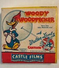 8mm CASTLE FILM REEL WOODY WOODPECKER CARTOON SOLID IVORY 494