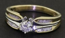 14K yellow gold .81CT VS1/H diamond wedding ring w/ .31CT size 10