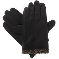 ISOTONER Men's smarTouch Microsuede ThermalFlex Lined Burber cuff Gloves BLACK