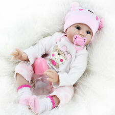 Lifelike Reborn Baby Doll 55CM Doll Vinyl Kids Girl playmate Bambole rinascere
