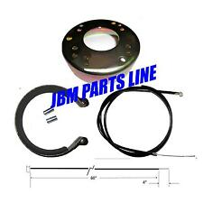 "Go Kart 4-1/2"" Brake Kit,  Mini Bike Brake Band And Drum With Heavy Duty Cable."