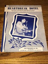 ELVIS PRESLEY HEARTBREAK HOTEL ~SHEET MUSIC ~ COPYRIGHT 1956