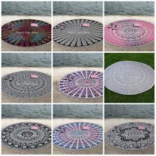 Bohemian Mandala Round Beach Tapestry Hippie Throw Yoga Mat Towel Roundie 72