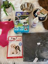 Puppy Dog Supplies Starter Bundle Collar Bowl car protection bath training NEW
