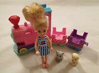 Barbie Club Chelsea Choo Choo Train with Chelsea Doll Puppy & Kitten Playset Toy