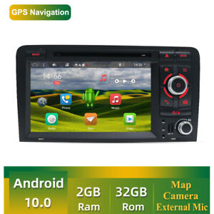 2 DIN Autoradio 7inch Android 10 Bluetooth USB pour Audi A3 8P S3 RS3 Sportback
