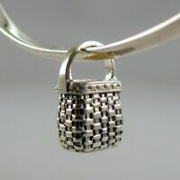 Sterling Silver KEEPSAKE BASKET Charm FOR BRACELET Necklace Pendant VINTAGE New