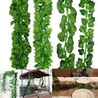Long 200cm Ivy Leaf Garland Green Plant Plastic Vine Foliage Home Garden Decor