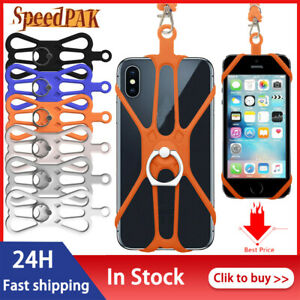 Phone Case - Silicone Lanyard Case Cover Holder Sling Neck Strap For Cell Phone~