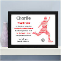 Page Boys Thank You Gifts Personalised Footballer Ring Bearer Thanks Presents