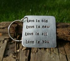 The Beatles gift LOVE IS YOU Keyring VALENTINES DAY Gifts for Him Her Because