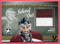 2015-16 Peter Budaj ITG Final Vault 2010-11 Between the Pipes Gold Jersey 1/1
