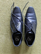 Aquila black leather dress shoes sz42 excellent condition RRP$250