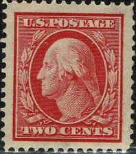 #375 1910 2c PERF 12 ISSUE MINT-OG/HINGED--JUMBO--JUMBO
