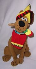Scooby-Doo Dressed in Mexican Outfit, Hat, Scarf, & Maraca in his Mouth