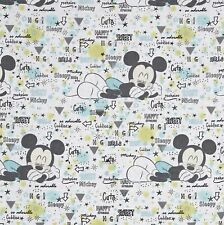 New listing Disney Peekaboo Mickey White 100% Cotton Fabric by The Yard