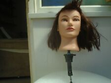 Very nice hairdressers female mannequin head with real hair & clamp stand  LOOK