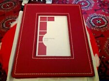 """Leather Look Surround Burgundy  Photo Frame. 4"""" x 6"""" - Craft Project"""
