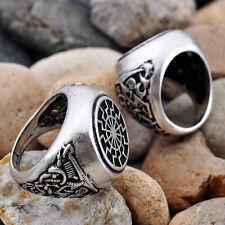 SONNENRAD BLACK SUN SYMBOL RING SZ. 9 nordic runes pagan asatru thor odin occult