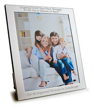"""Personalised 10"""" X 8"""" Silver Plated Photo Frame - Can Be Engraved"""